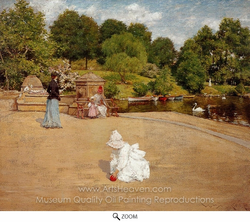 William Merritt Chase, A Bit of the Terrace oil painting reproduction