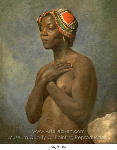French Painter, A Black Woman oil painting reproduction