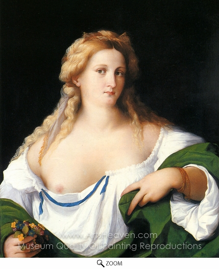 Vecchio Palma, A Blonde Woman oil painting reproduction