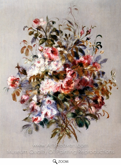 Pierre-Auguste Renoir, A Bouquet of Roses oil painting reproduction