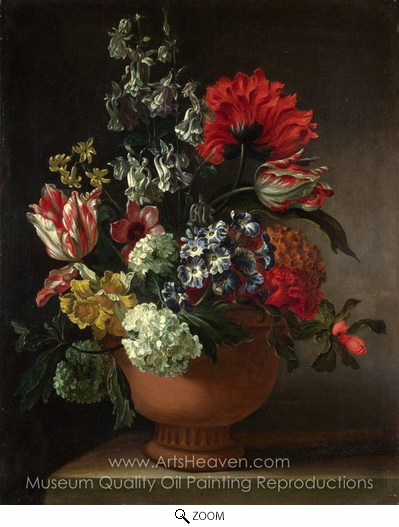Marie Blancour, A Bowl of Flowers oil painting reproduction