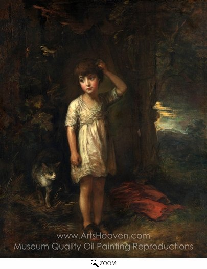 Thomas Gainsborough, A Boy with a Cat, Morning oil painting reproduction