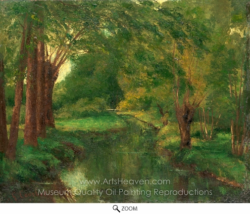 Gustave Courbet, A Brook in a Clearing oil painting reproduction