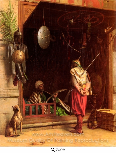 Jean-Leon Gerome, A Cairene Amorer oil painting reproduction