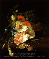 A Carnation Morning Glory with Other Flowers painting reproduction, Rachel Ruysch