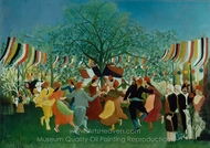 A Centennial of Independence painting reproduction, Henri Rousseau