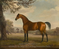 A Chestnut Arab Stallion in a Landscape painting reproduction, Sawrey Gilpin
