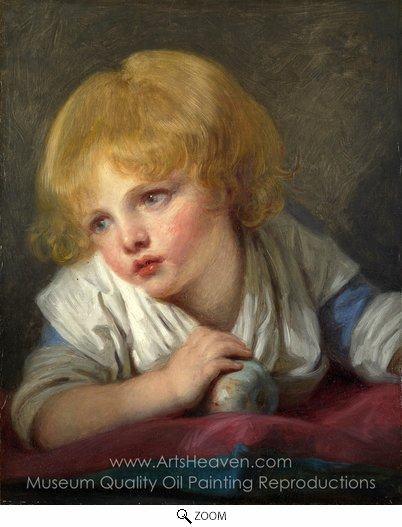 Jean Baptiste Greuze, A Child with an Apple oil painting reproduction