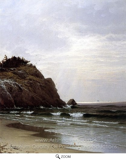 Alfred Thompson Bricher, A Cloudy Day oil painting reproduction