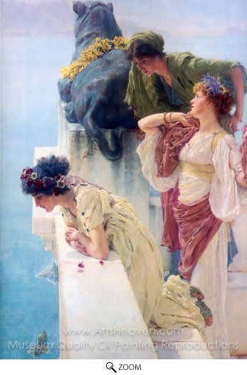 Sir Lawrence Alma-Tadema, A Coign of Vantage oil painting reproduction