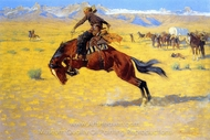 A Cold Morning on the Range painting reproduction, Frederic Remington
