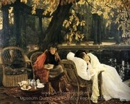A Convalescent painting reproduction, James Tissot