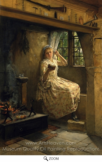 Frank Millet, A Cosey Corner oil painting reproduction