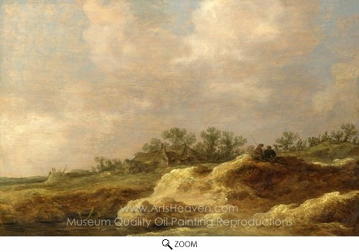 Jan Van Goyen, A Cottage on a Heath oil painting reproduction