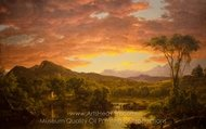 A Country Home painting reproduction, Frederic Edwin Church