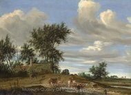 A Country Road painting reproduction, Salomon Van Ruysdael