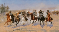 A Dash for the Timber painting reproduction, Frederic Remington