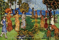 A Day in the Country painting reproduction, Maurice Prendergast