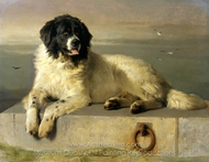 A Distinguished Member of the Humane Society painting reproduction, Sir Edwin Landseer