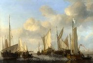 A Dutch Yacht Saluting painting reproduction, Willem Van De Velde, The Elder