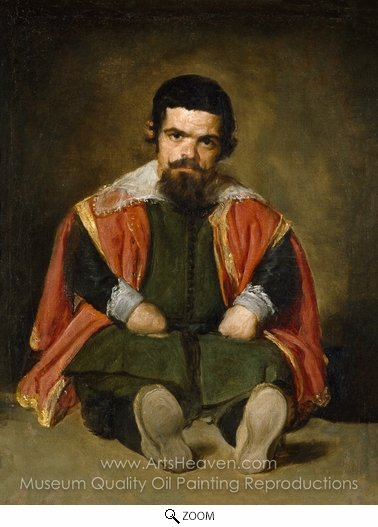 Diego Velazquez, A Dwarf Sitting on the Floor oil painting reproduction