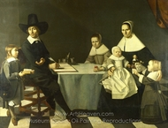 A Family Group painting reproduction, Michiel Nouts