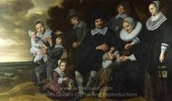 A Family Group in a Landscape painting reproduction, Frans Hals