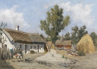 A Farm painting reproduction, Theodor Von Hormann