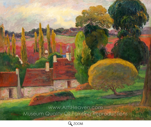 Paul Gauguin, A Farm in Brittany oil painting reproduction