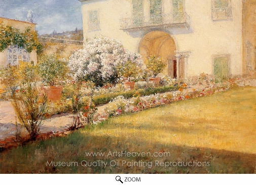 William Merritt Chase, A Florentine Villa oil painting reproduction