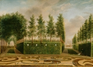 A Formal Garden painting reproduction, Johannes Janson
