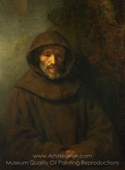 A Franciscan Friar painting reproduction, Rembrandt Van Rijn