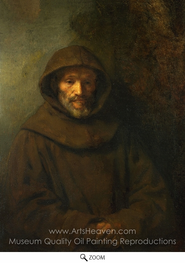 Rembrandt Van Rijn, A Franciscan Friar oil painting reproduction