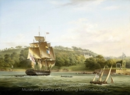 A Frigate and other Vessels in Barn Pool off Plymouth painting reproduction, Thomas Lyde Hornbrook