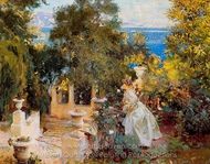 A Garden in Corfu painting reproduction, John Singer Sargent