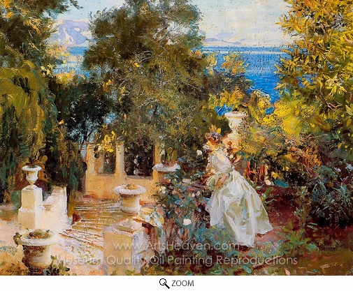 John Singer Sargent, A Garden in Corfu oil painting reproduction