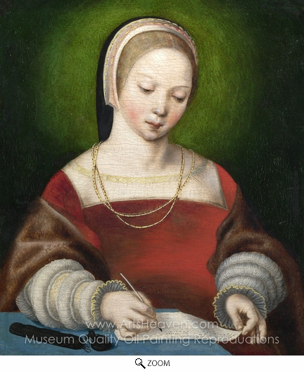Netherlandish Painter, A Girl Writing oil painting reproduction