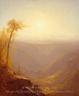 A Gorge in the Mountains (Kauterskill Clove) painting reproduction, Sanford Robinson Gifford