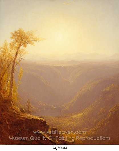 Sanford Robinson Gifford, A Gorge in the Mountains (Kauterskill Clove) oil painting reproduction