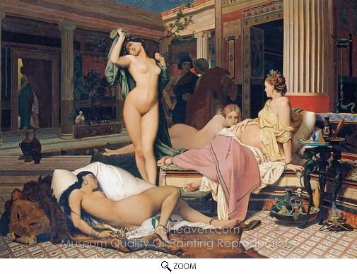 Jean-Leon Gerome, A Greek Interior (The Gynaeceum) oil painting reproduction