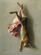 A Hare and a Leg of Lamb painting reproduction, Jean-Baptiste Oudry