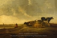 A Herdsman with Seven Cows by a River painting reproduction, Aelbert Cuyp