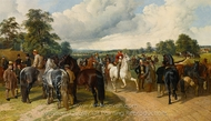 A Horse Fair on Southborough Common painting reproduction, John Frederick Herring Sr.