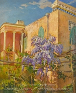A House with Flowering Trees painting reproduction, Constantin A. Westchiloff