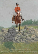 A Hunting Man painting reproduction, Frederic Remington