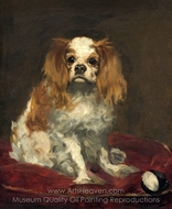 A King Charles Spaniel painting reproduction, �douard Manet