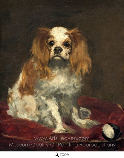 Édouard Manet, A King Charles Spaniel oil painting reproduction