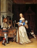 A Lady at Her Toilet painting reproduction, Gerard Ter Borch