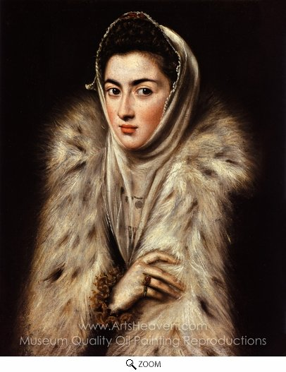El Greco, A Lady in Fur Wrap oil painting reproduction