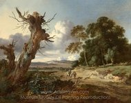 A Landscape with Two Dead Trees painting reproduction, Jan Wijnants